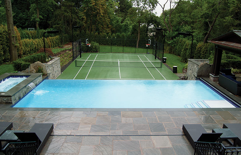 Piscine Tennis Luxe