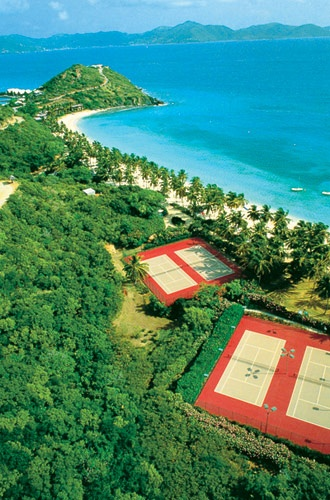 Tennis Courts Peter Island Resort