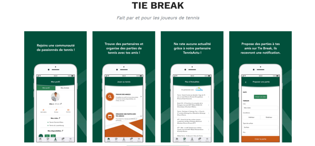 tie-break application tennis